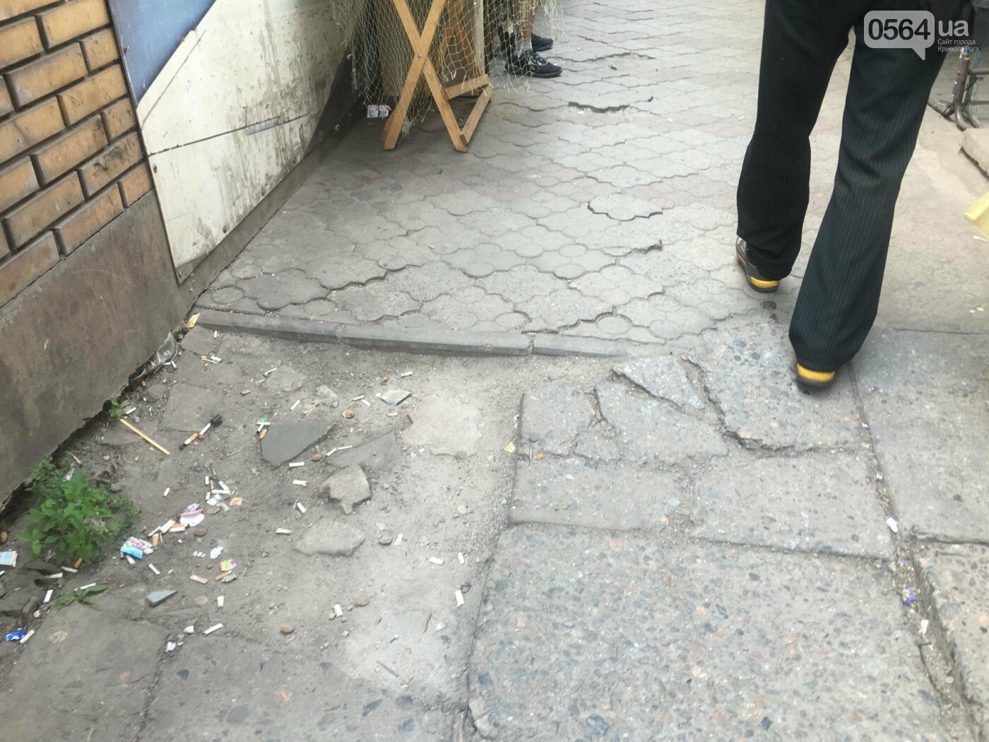 """Проходя по """"дороге"""" к рынку, 75-летняя криворожанка травмировалась, - ФОТО, фото-6"""