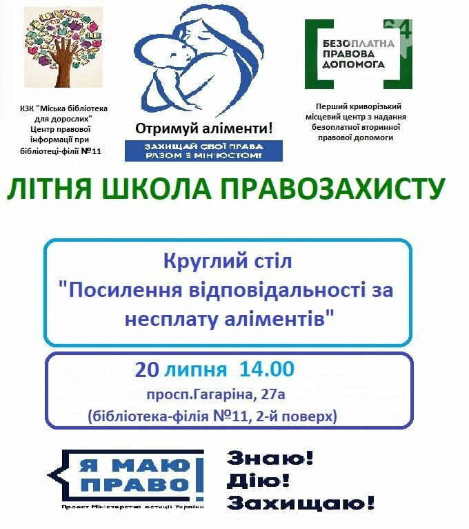 В Кривом Роге начнет работу Летняя школа правозащиты, - ГРАФИК, фото-1