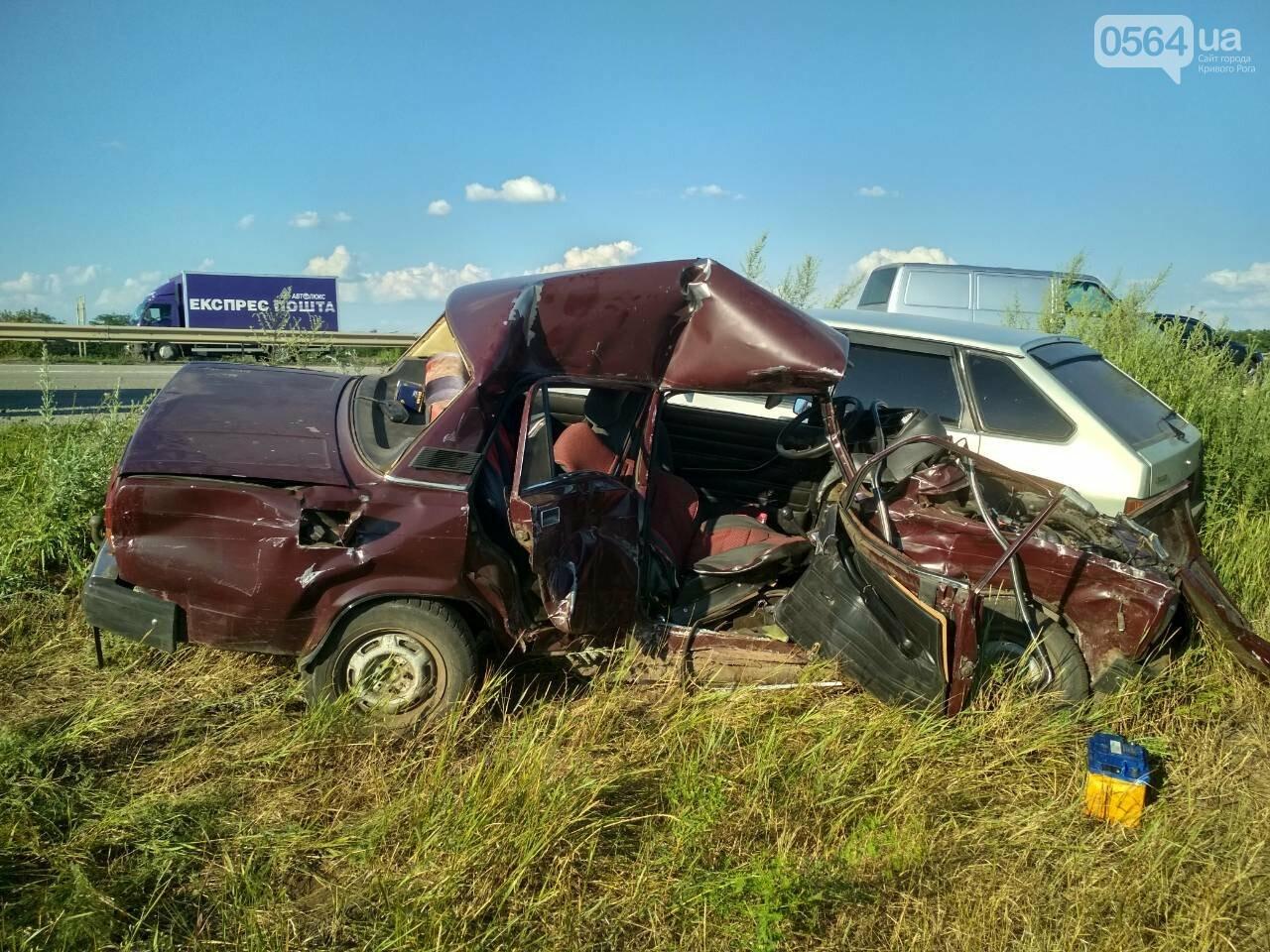 На Днепропетровщине столкнулись маршрутка и 2 легковушки. Один человек погиб, - ФОТО, фото-4