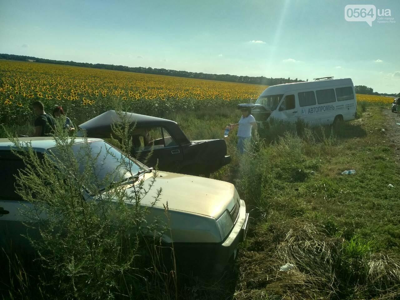 На Днепропетровщине столкнулись маршрутка и 2 легковушки. Один человек погиб, - ФОТО, фото-2