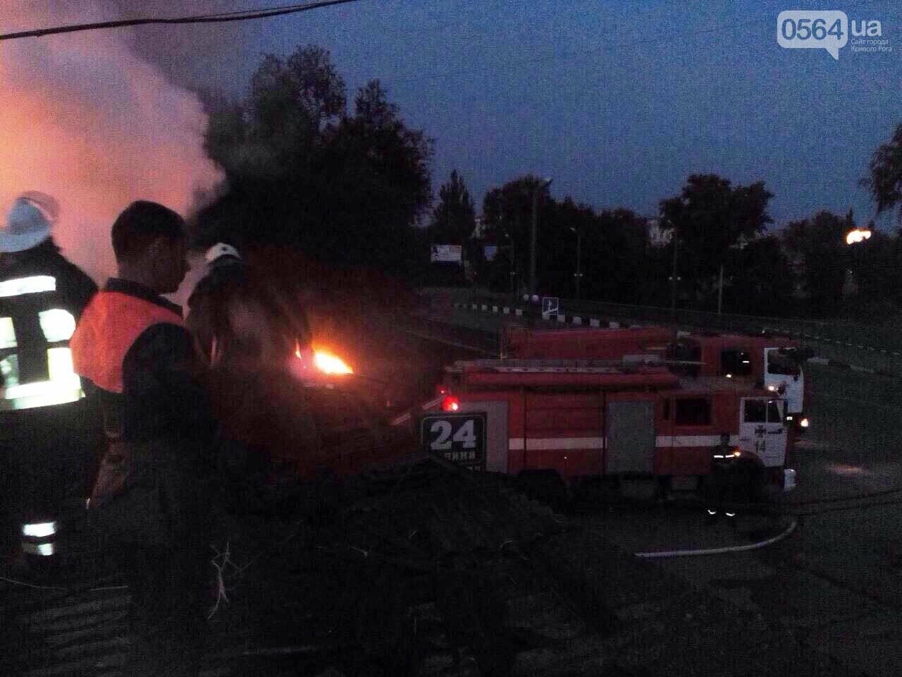 Масштабный пожар в Кривом Роге: Огонь уничтожил кафе и повредил еще несколько объектов, - ФОТО, фото-1