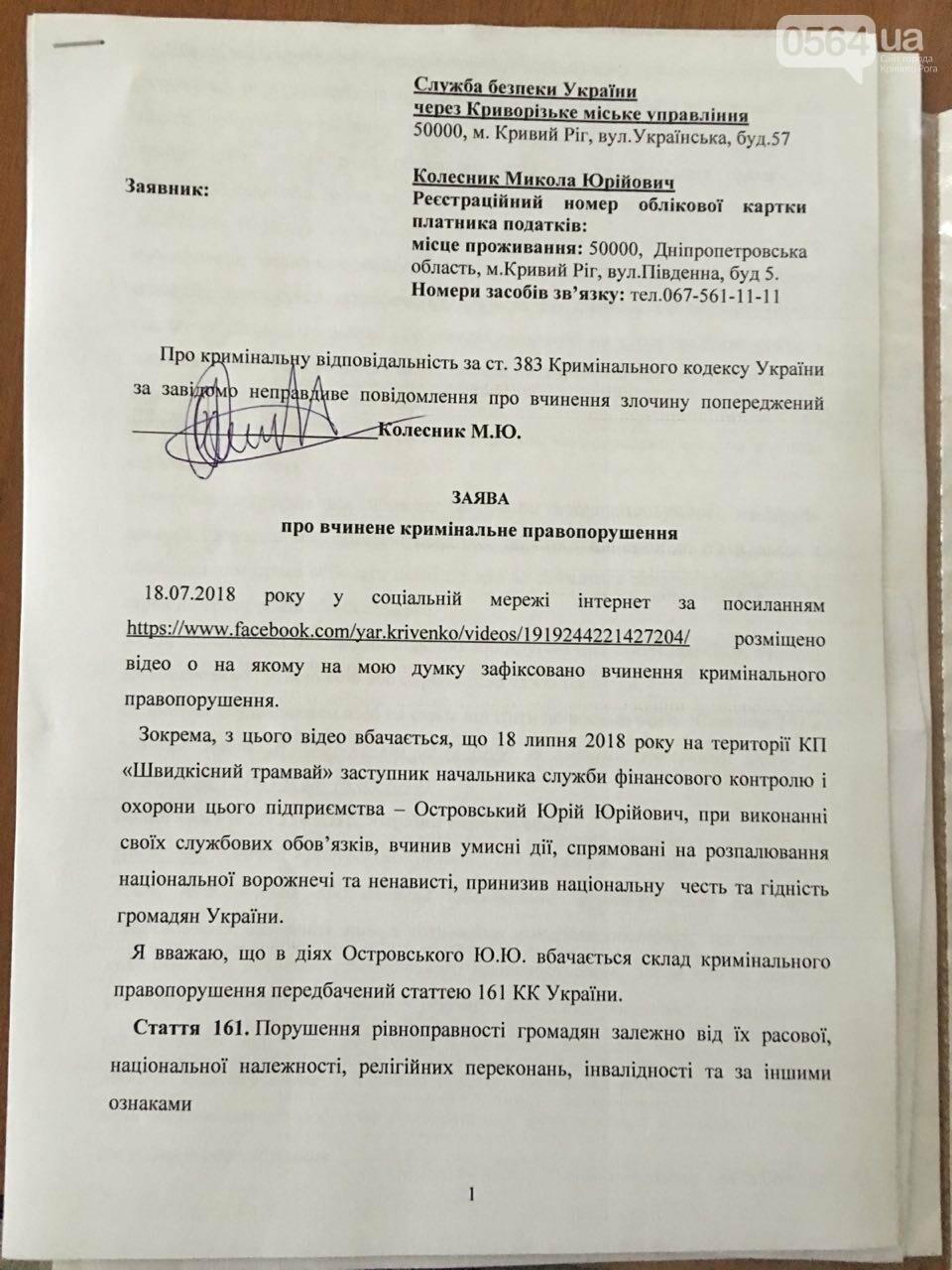 Криворожане передали в СБУ заявление с требованием проверить организации, которые возглавлял Островский, - ФОТО, фото-4