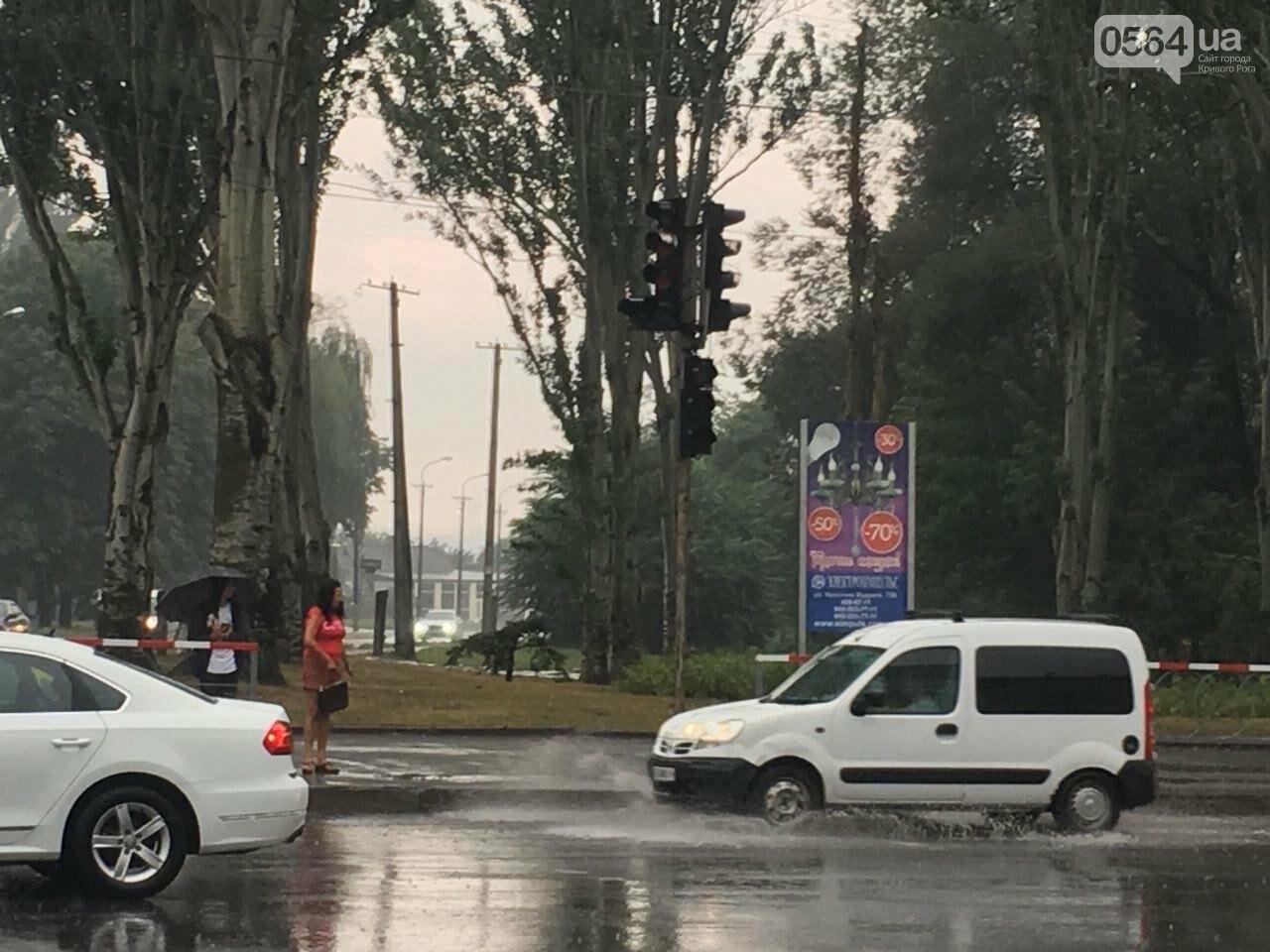 В Кривом Роге под дождем на перекрестке столкнулись иномарка и ВАЗ, - ФОТО, фото-3