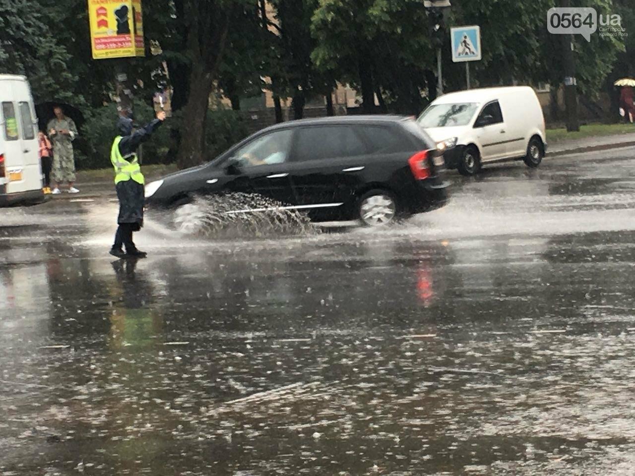 В Кривом Роге под дождем на перекрестке столкнулись иномарка и ВАЗ, - ФОТО, фото-4