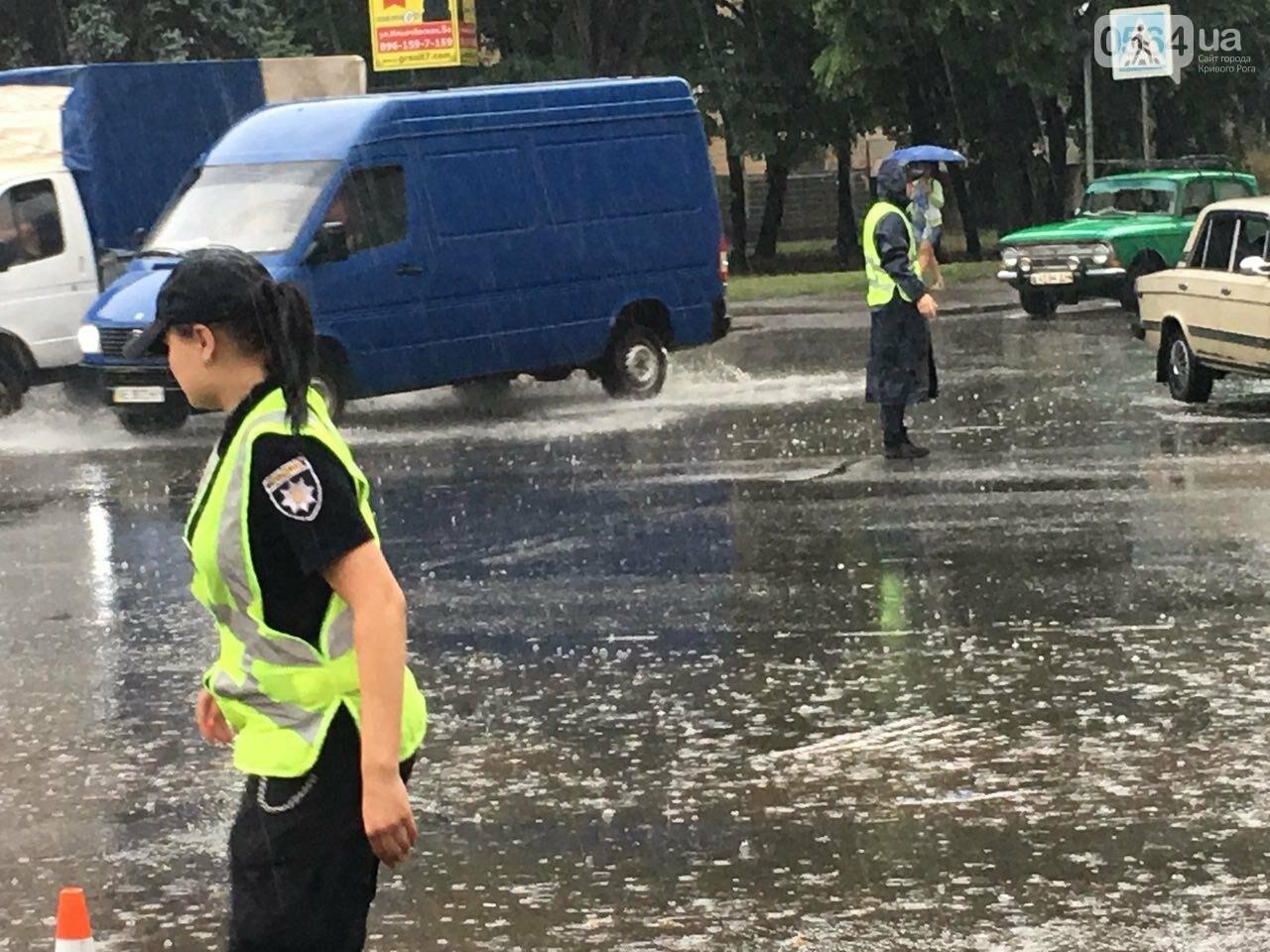 В Кривом Роге под дождем на перекрестке столкнулись иномарка и ВАЗ, - ФОТО, фото-14