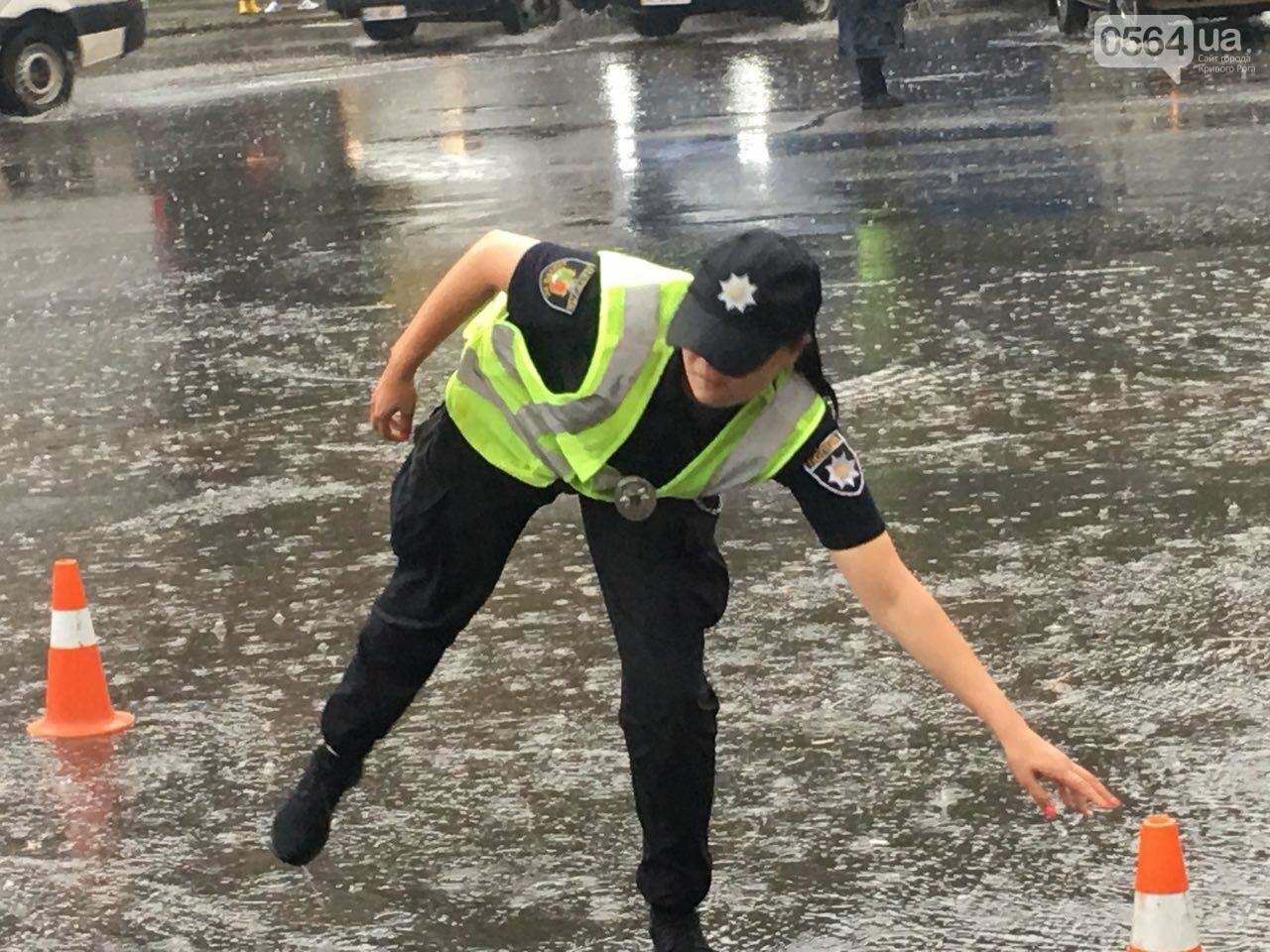 В Кривом Роге под дождем на перекрестке столкнулись иномарка и ВАЗ, - ФОТО, фото-15
