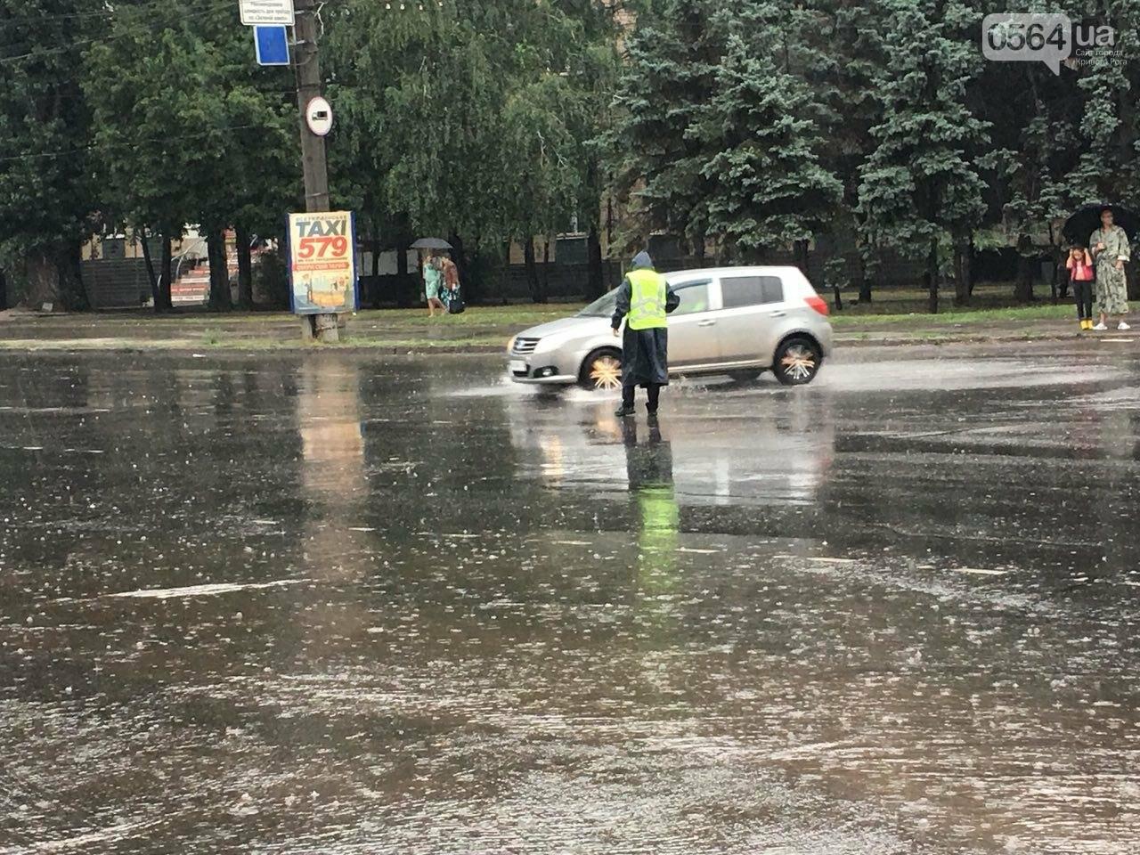 В Кривом Роге под дождем на перекрестке столкнулись иномарка и ВАЗ, - ФОТО, фото-19