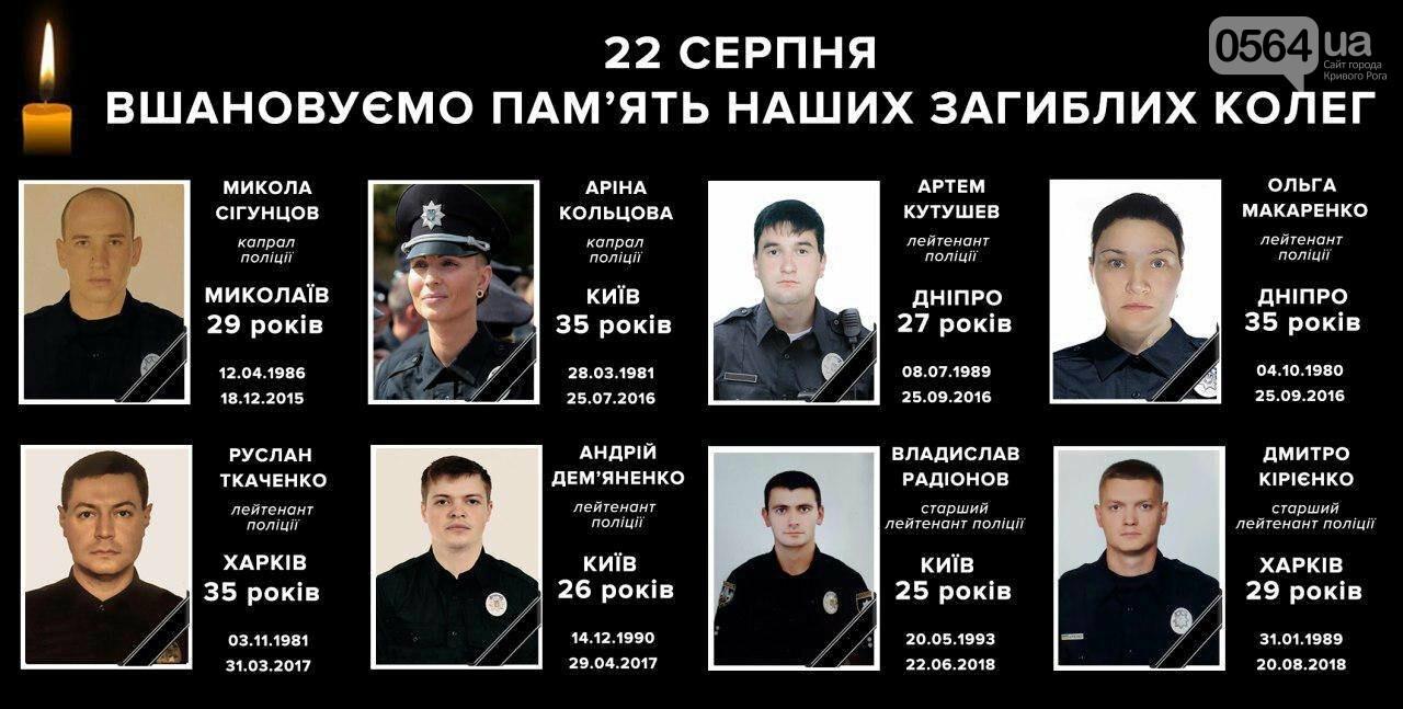 В Кривом Роге почтили память погибших правоохранителей, - ФОТО, фото-1