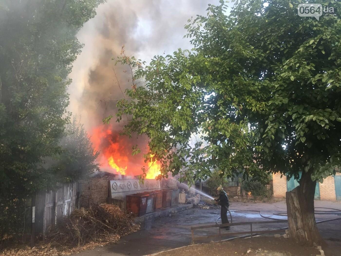 В Кривом Роге масштабный пожар: горели брошенные сараи, - ФОТО, ВИДЕО, фото-2