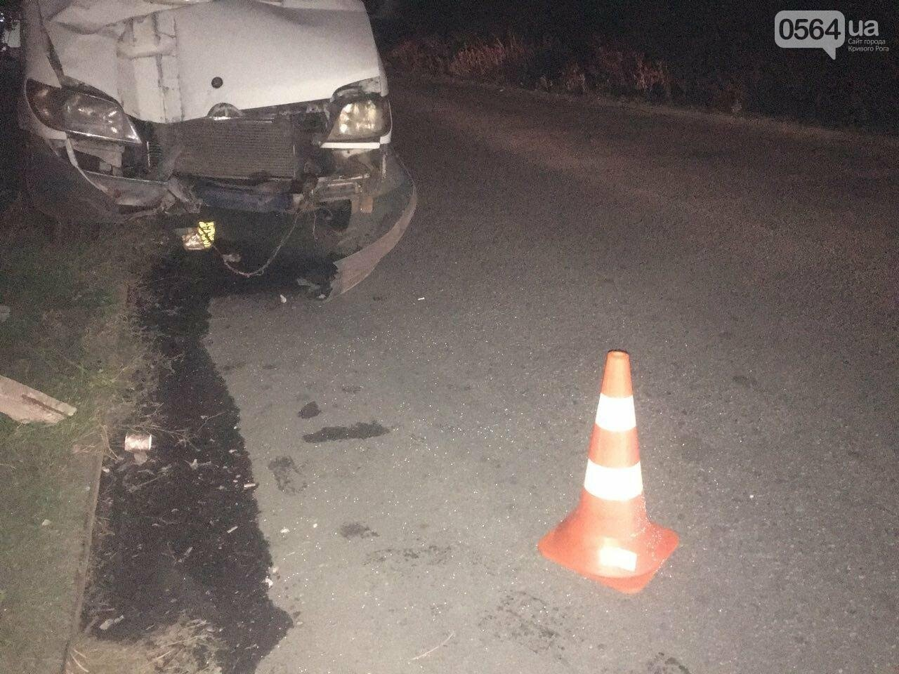 В Кривом Роге микроавтобус снес электроопору: пропал водитель и свет, - ФОТО  , фото-1