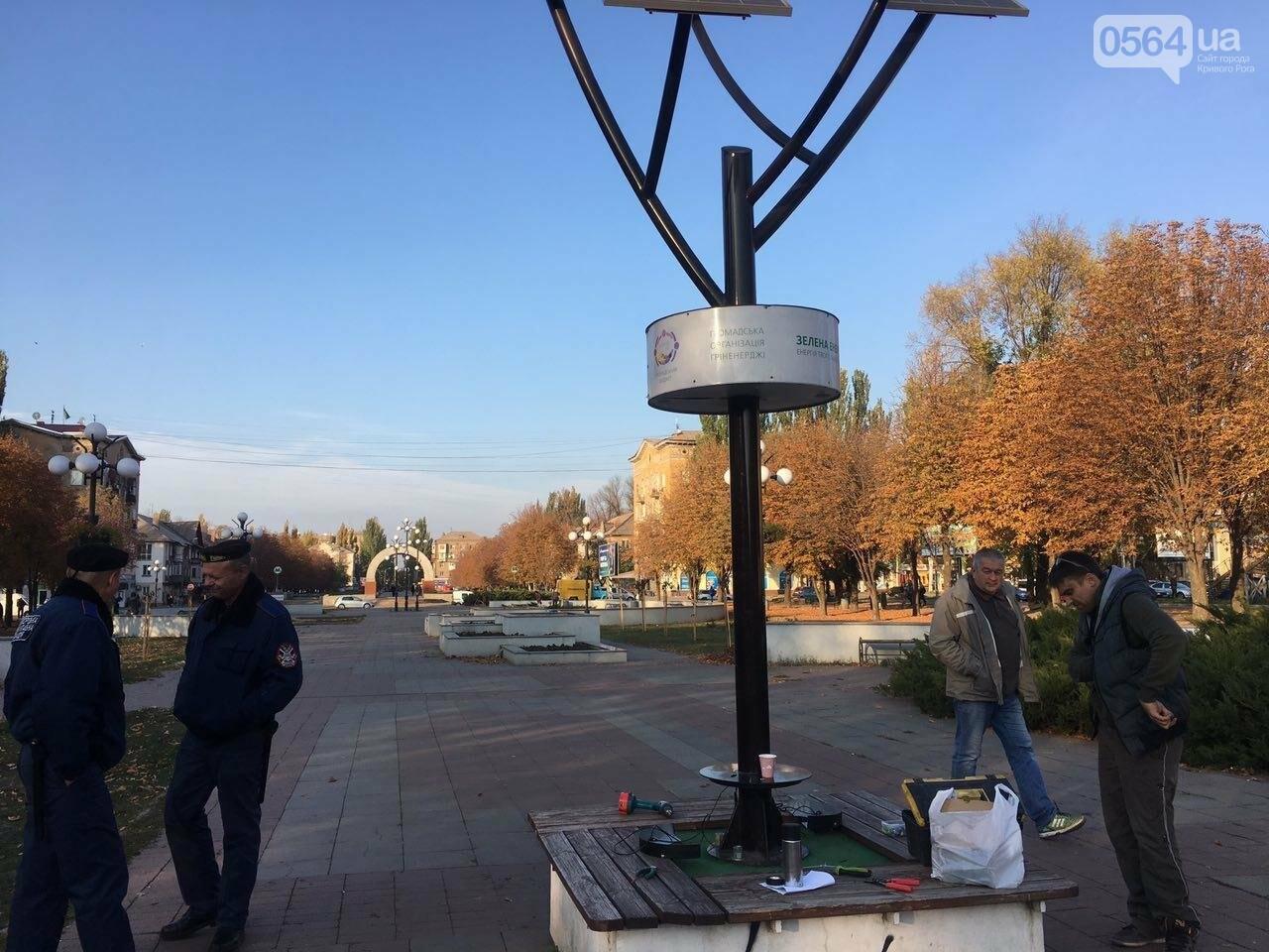 """Чтобы """"Солнечное дерево"""" продолжало """"жить"""" в Кривом Роге, на него установили антивандальную панель, - ФОТО , фото-3"""