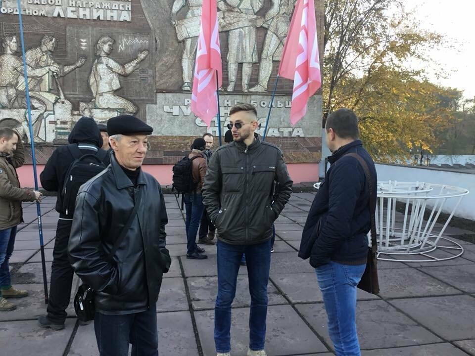 """Митинг не получился: Профсоюзные активисты провели собрание возле проходной """"АрселорМиттал Кривой Рог"""", - ФОТО, ВИДЕО, фото-9"""
