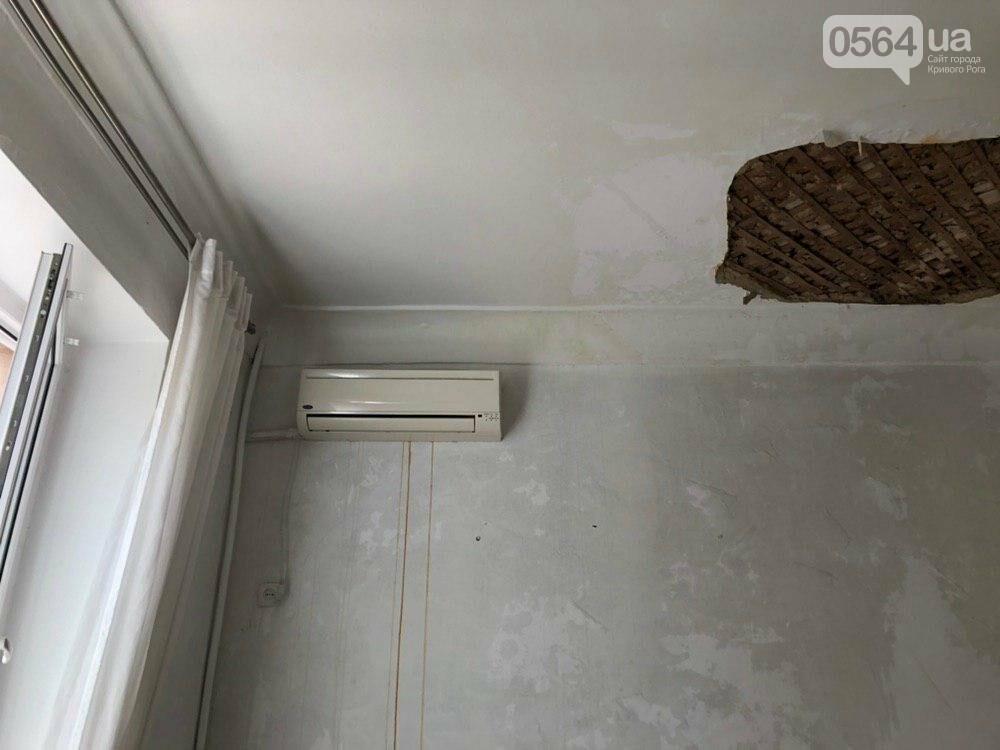 Из-за порыва трубы отопления в Криворожской многоэтажке рухнул потолок, - ФОТО, фото-3