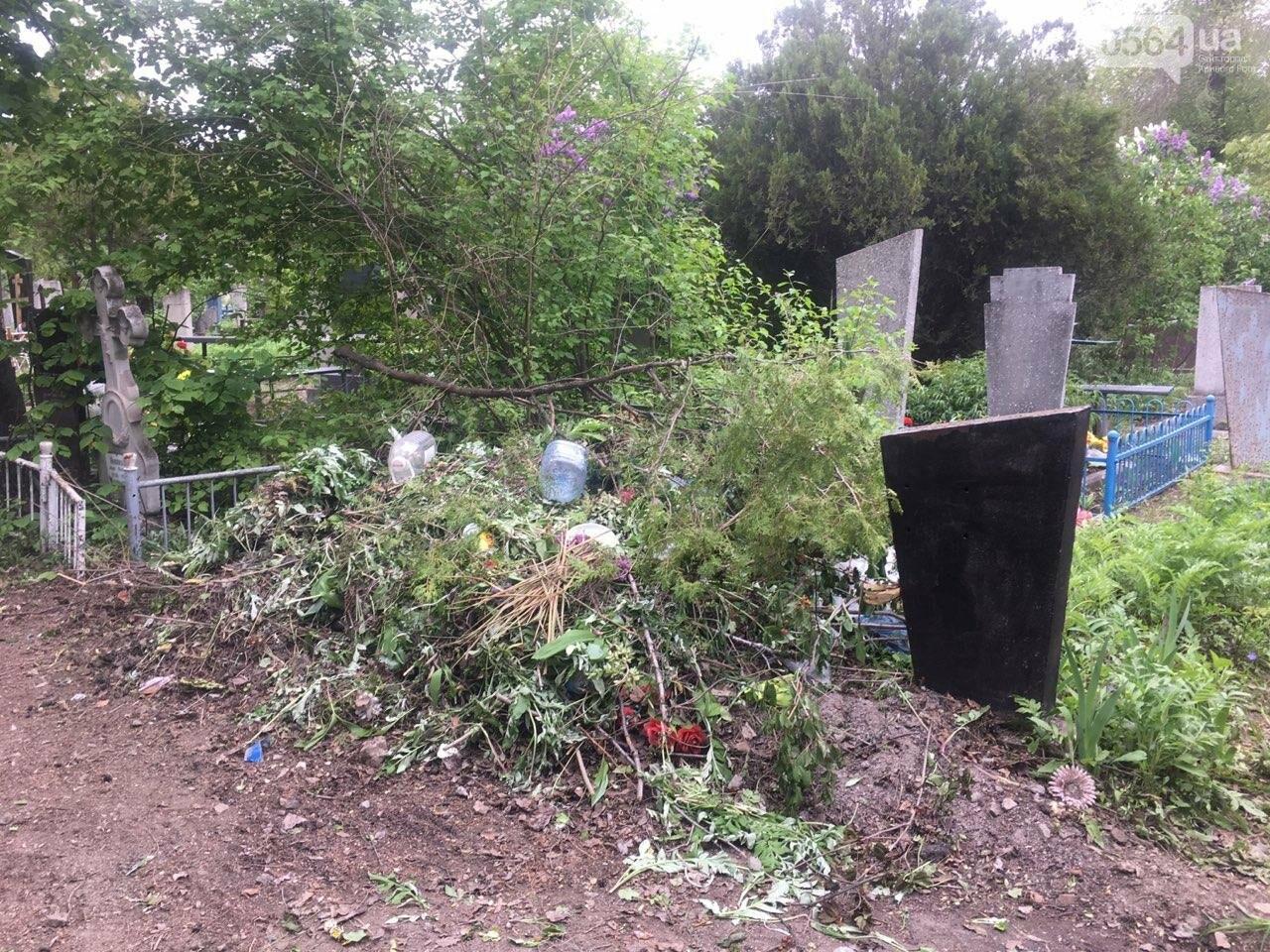 За неделю с кладбищ Кривого Рога вывезли порядка 8 тысяч кубов мусора, - ФОТО , фото-1