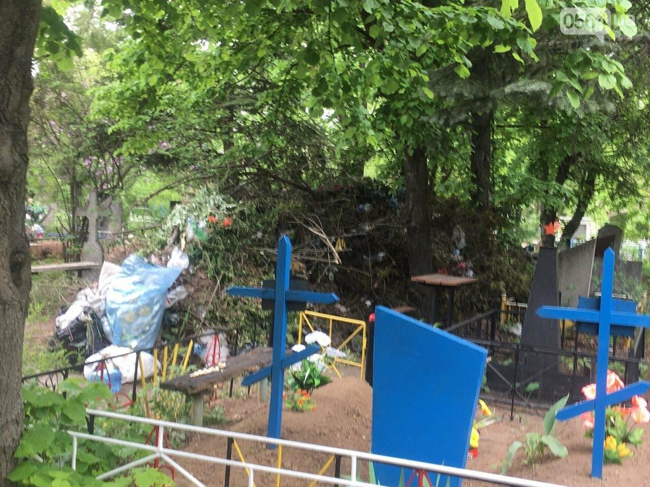 За неделю с кладбищ Кривого Рога вывезли порядка 8 тысяч кубов мусора, - ФОТО , фото-9