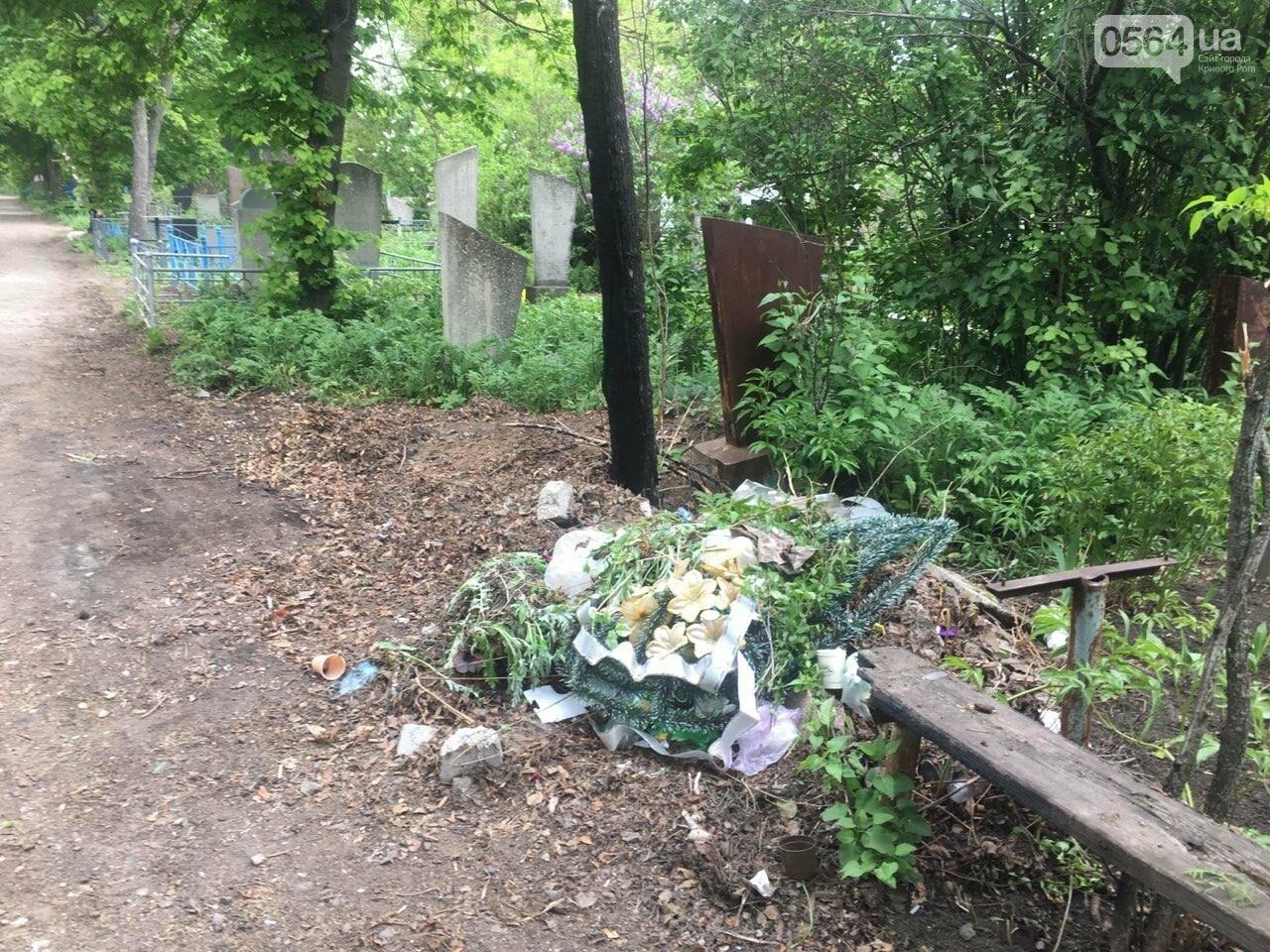 За неделю с кладбищ Кривого Рога вывезли порядка 8 тысяч кубов мусора, - ФОТО , фото-7
