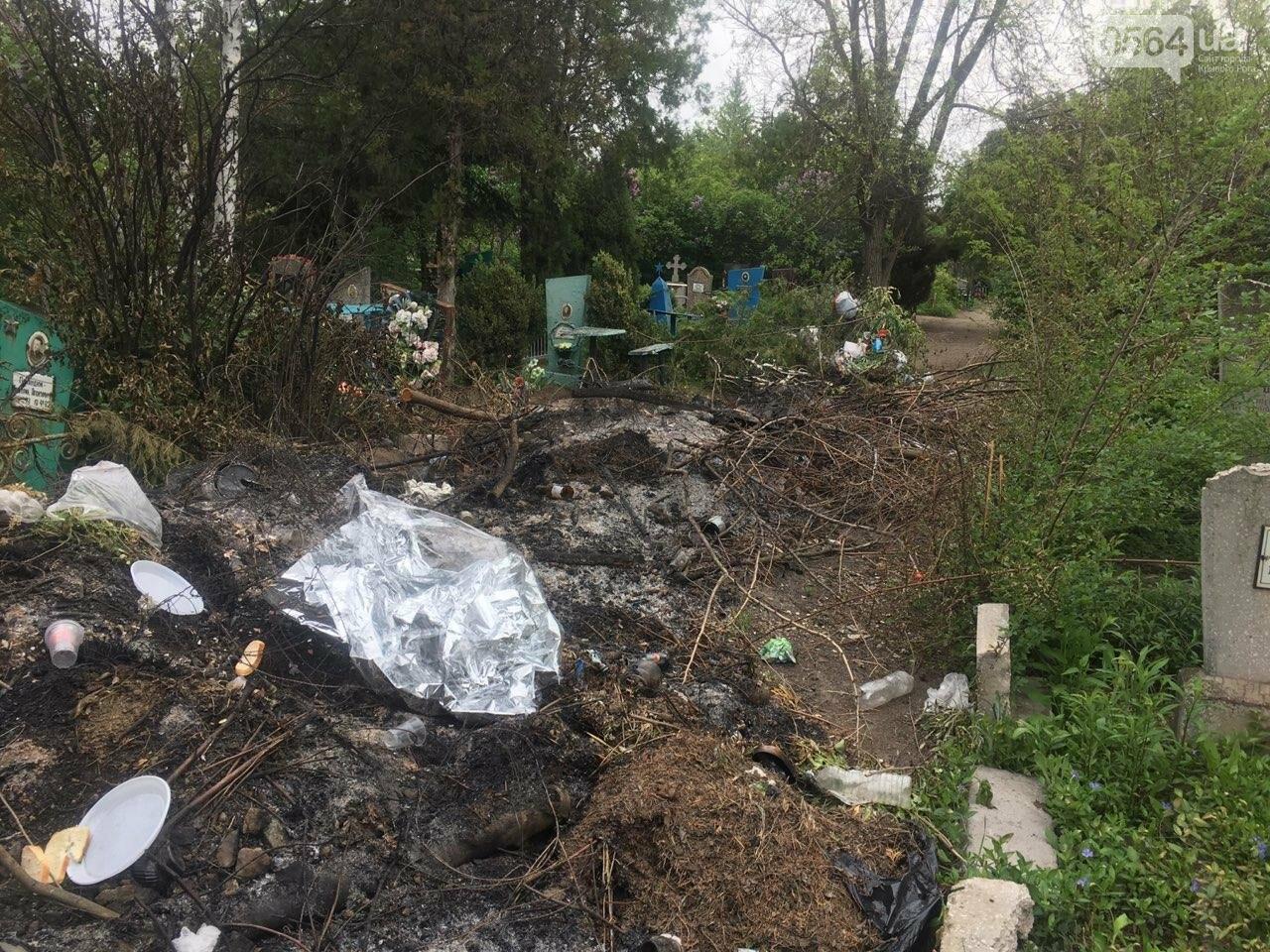 За неделю с кладбищ Кривого Рога вывезли порядка 8 тысяч кубов мусора, - ФОТО , фото-12