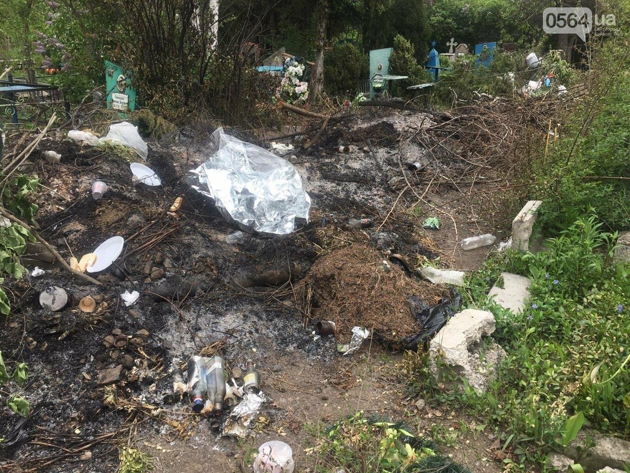 За неделю с кладбищ Кривого Рога вывезли порядка 8 тысяч кубов мусора, - ФОТО , фото-13