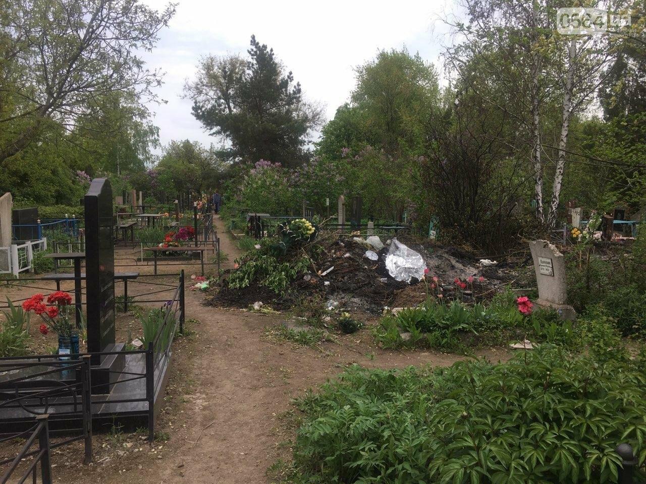 За неделю с кладбищ Кривого Рога вывезли порядка 8 тысяч кубов мусора, - ФОТО , фото-19