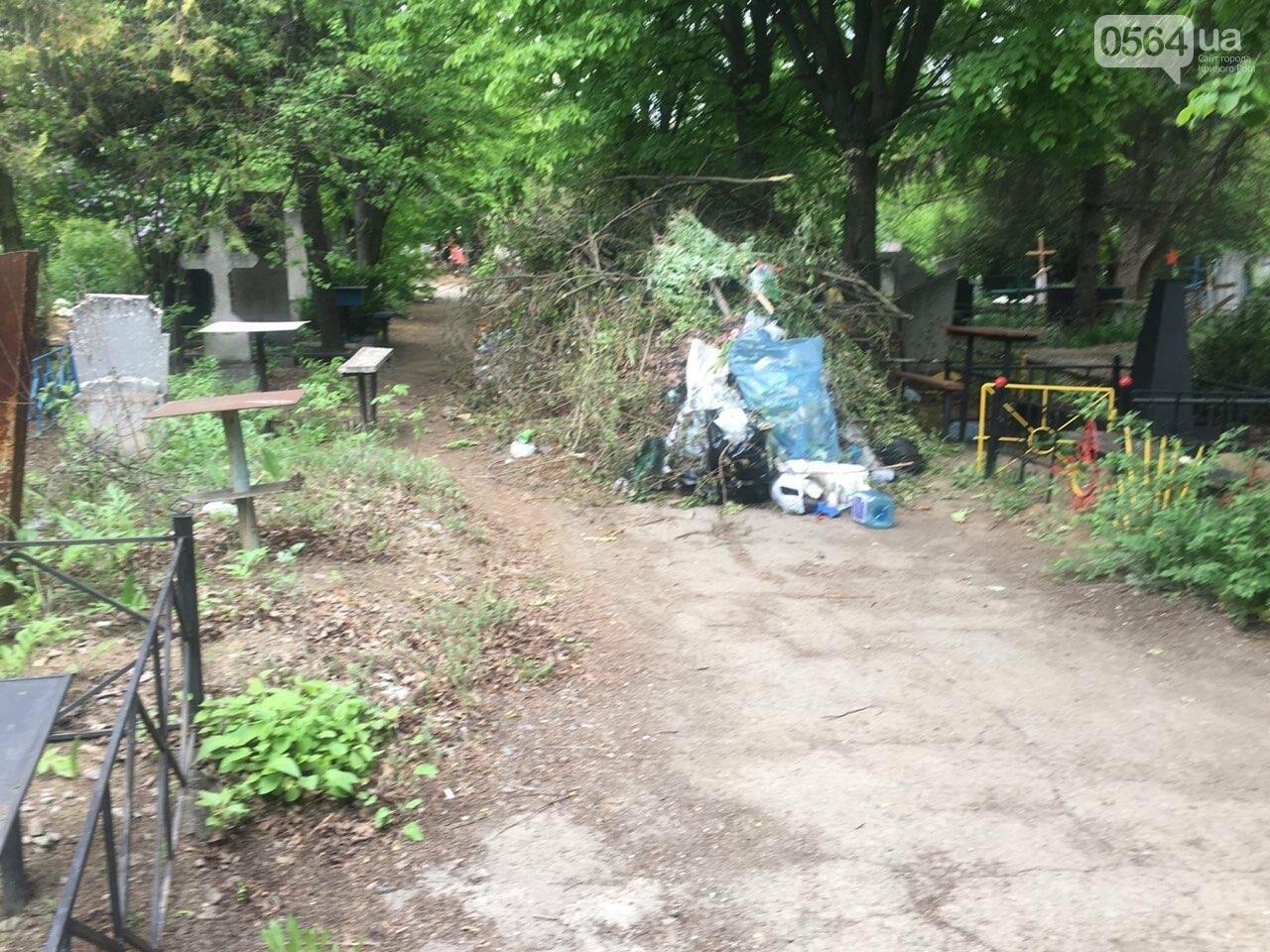 За неделю с кладбищ Кривого Рога вывезли порядка 8 тысяч кубов мусора, - ФОТО , фото-18