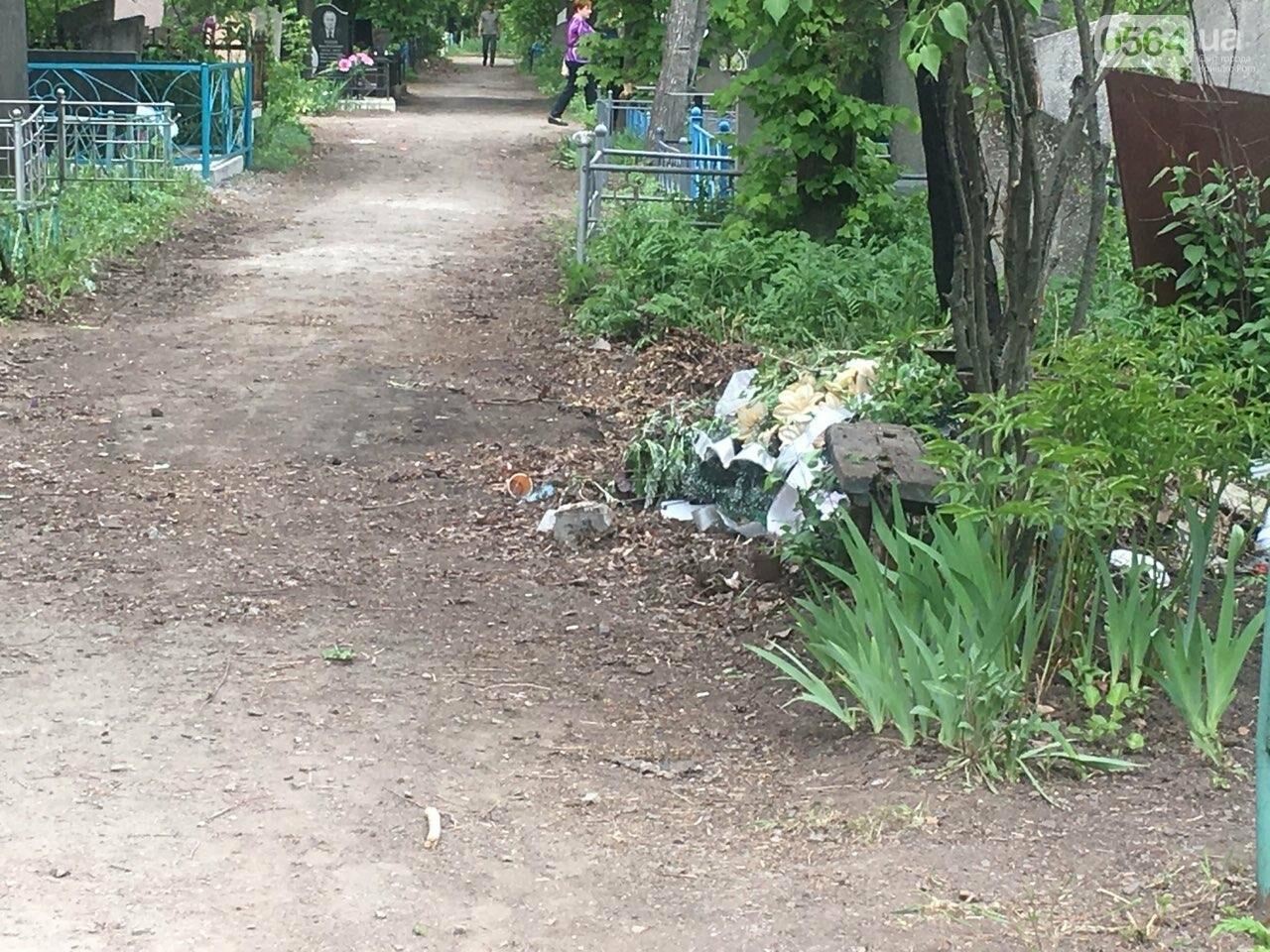 За неделю с кладбищ Кривого Рога вывезли порядка 8 тысяч кубов мусора, - ФОТО , фото-20