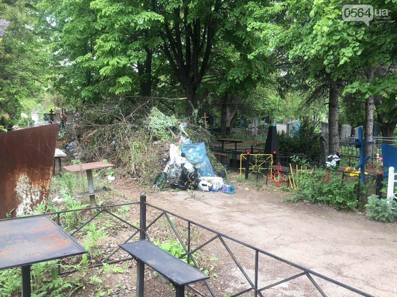 За неделю с кладбищ Кривого Рога вывезли порядка 8 тысяч кубов мусора, - ФОТО , фото-21