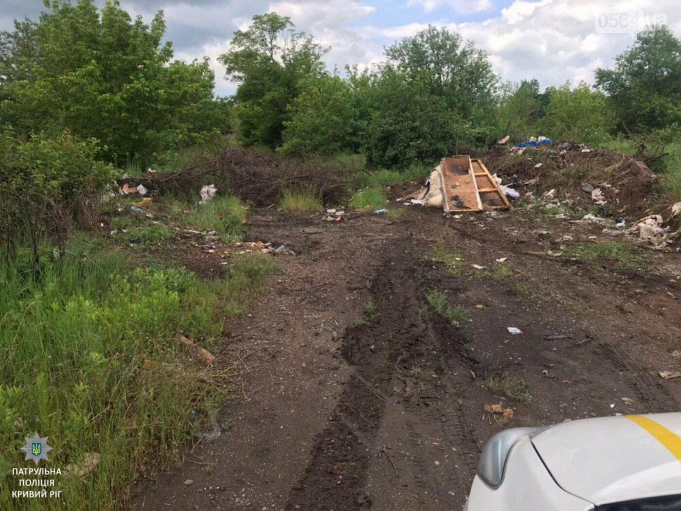 Криворожанин, который выбрасывал мусор в неположенном месте, получил админпротокол, - ФОТО , фото-1