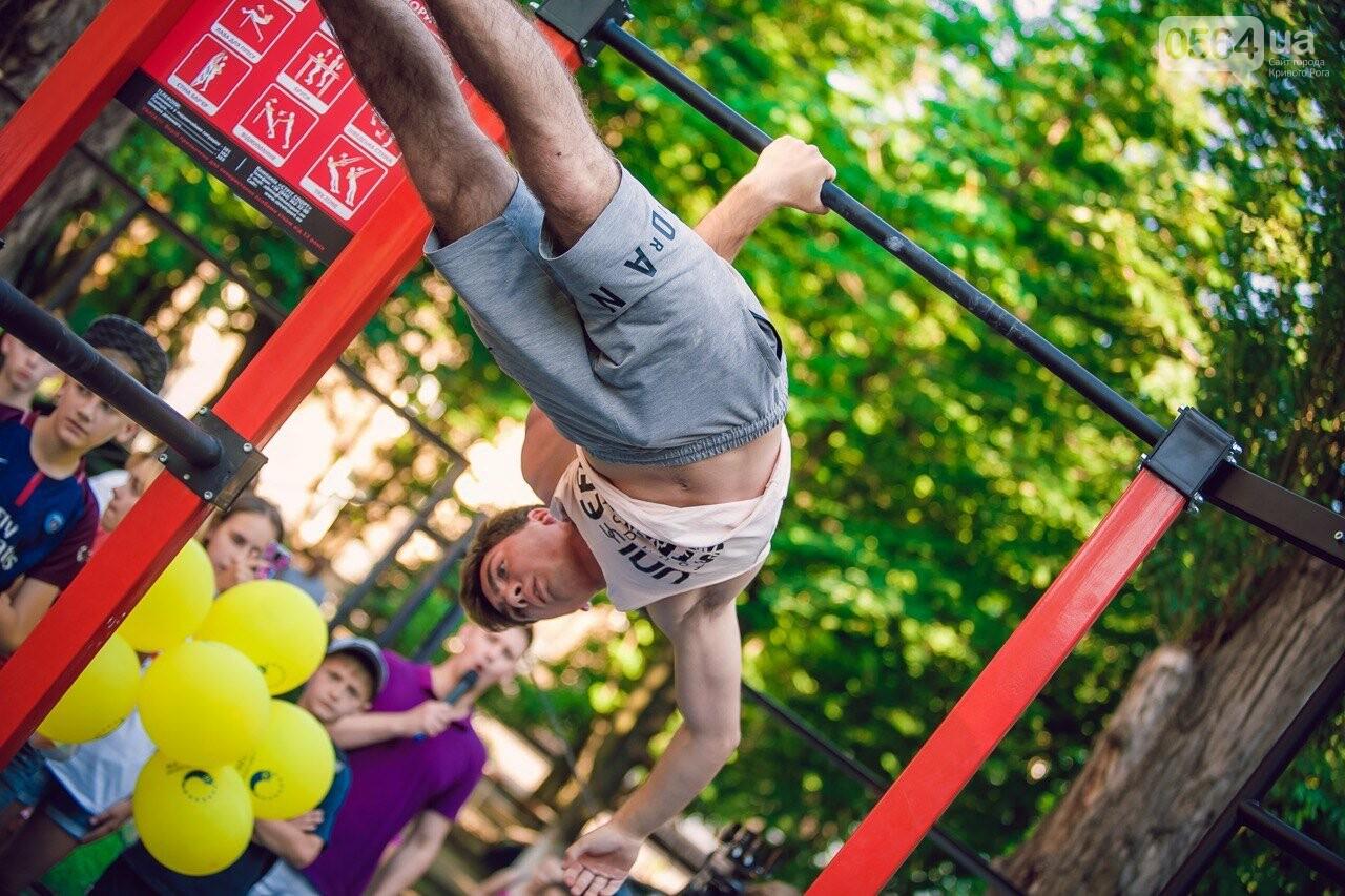 Мы это делаем, чтобы у наших криворожских детей было здоровое будущее», - Константин Усов открыл новую площадку для воркаута, фото-6