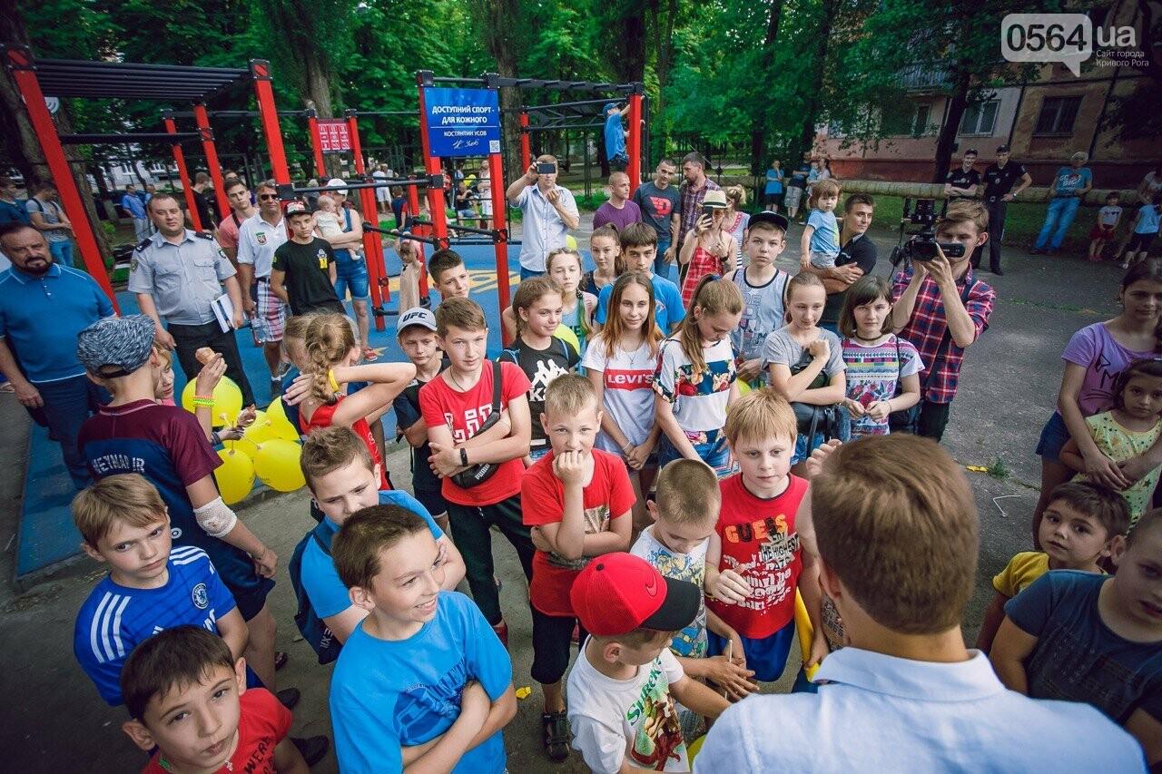 Мы это делаем, чтобы у наших криворожских детей было здоровое будущее», - Константин Усов открыл новую площадку для воркаута, фото-8