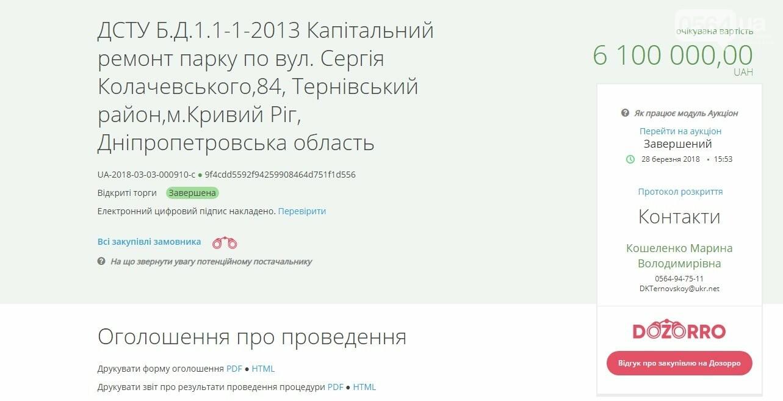 Директора криворожского ДК подозревают в хищении на ремонте парка 23% бюджета, фото-1