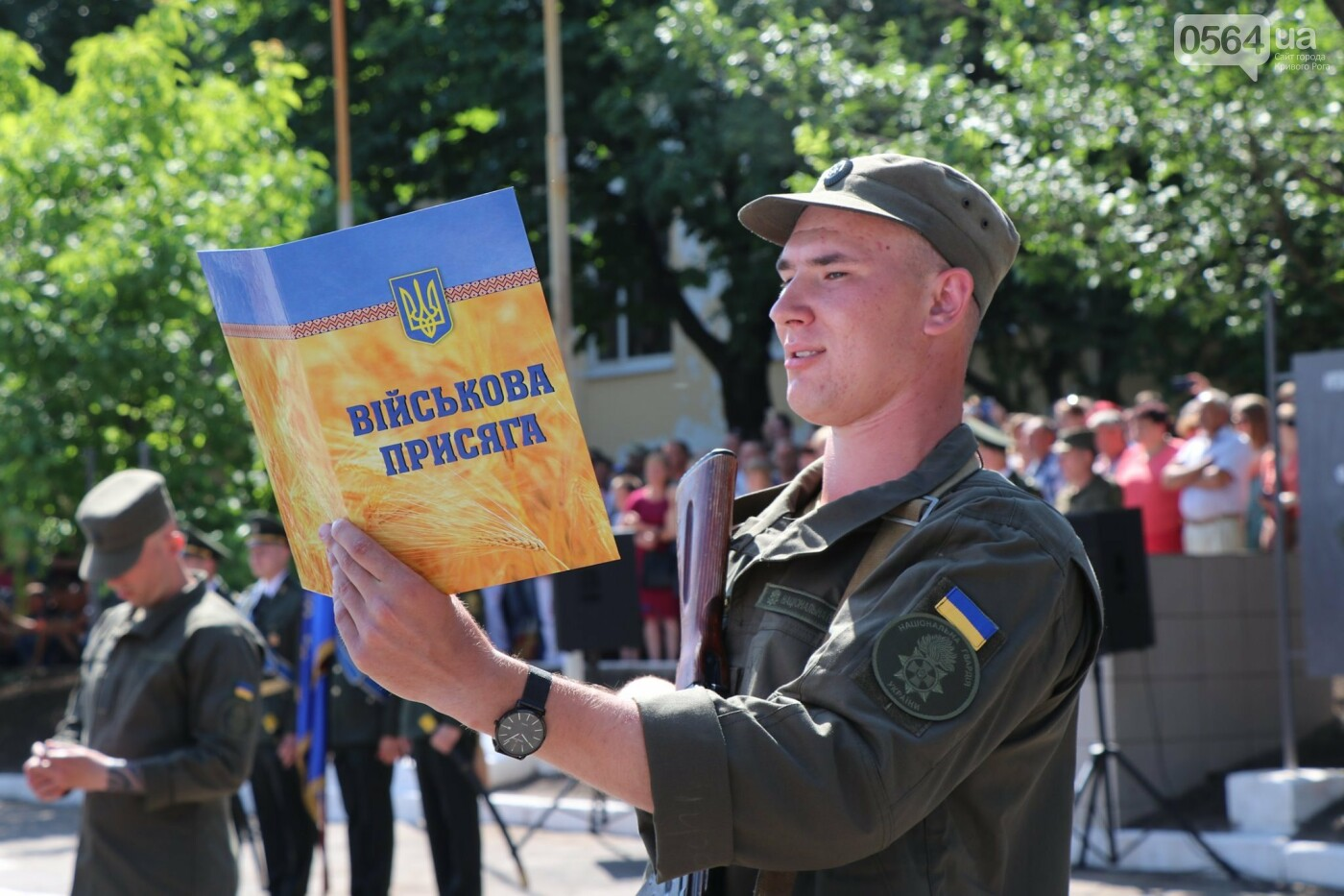 В Кривом Роге 168 нацгвардейцев торжественно приняли присягу на верность украинскому народу, - ФОТО, фото-15
