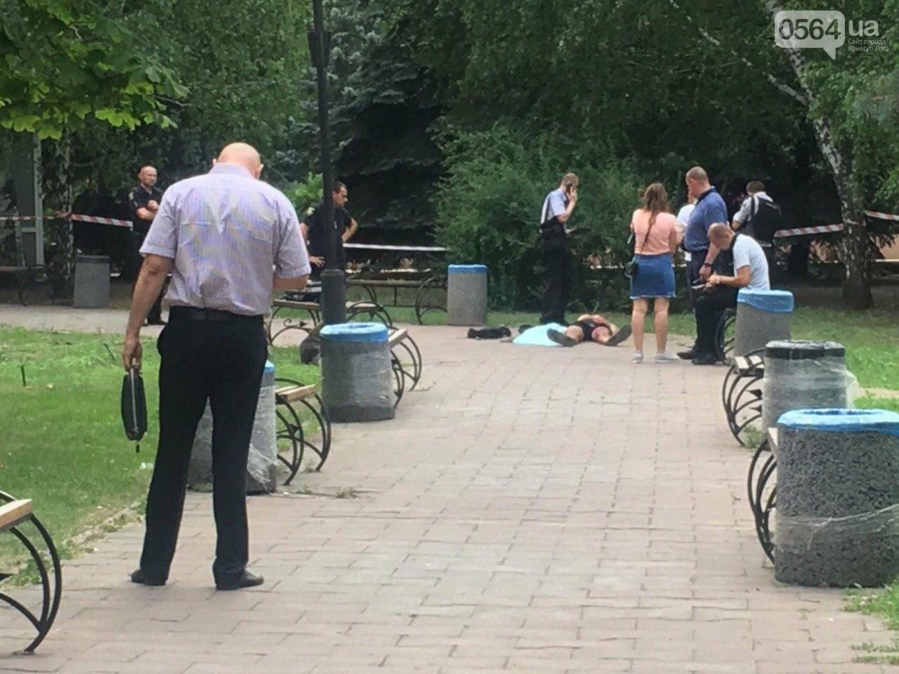 Возле мэрии Кривого Рога найдено тело мужчины с ножевыми ранениями. Рядом с убитым находится его собака, - ФОТО, ВИДЕО 18+, фото-10