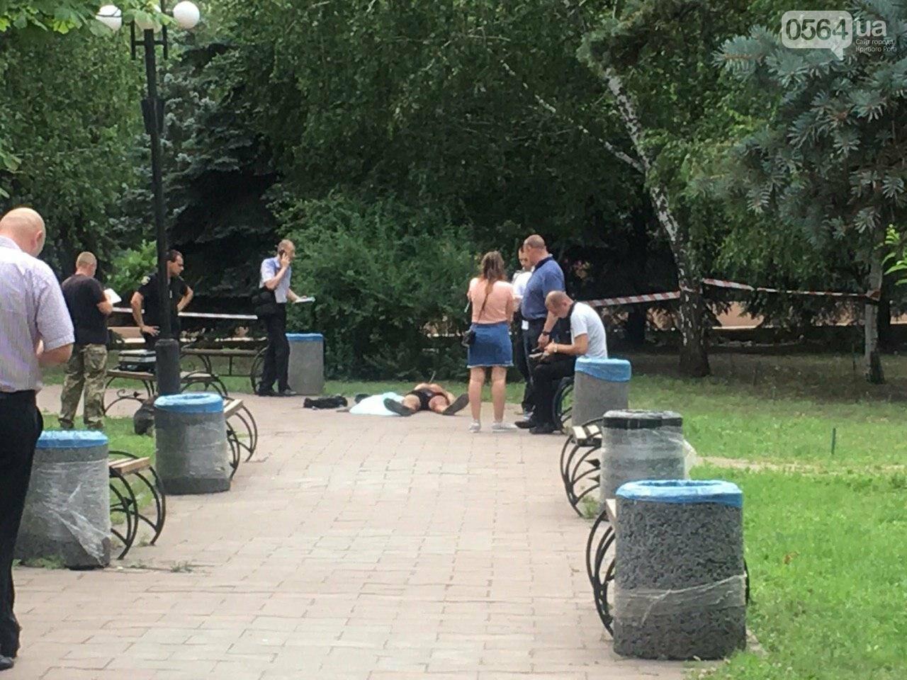 Возле мэрии Кривого Рога найдено тело мужчины с ножевыми ранениями. Рядом с убитым находится его собака, - ФОТО, ВИДЕО 18+, фото-11