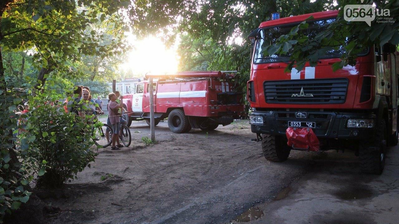 В Кривом Роге произошел пожар в многоквартирном доме, - ФОТО , фото-1
