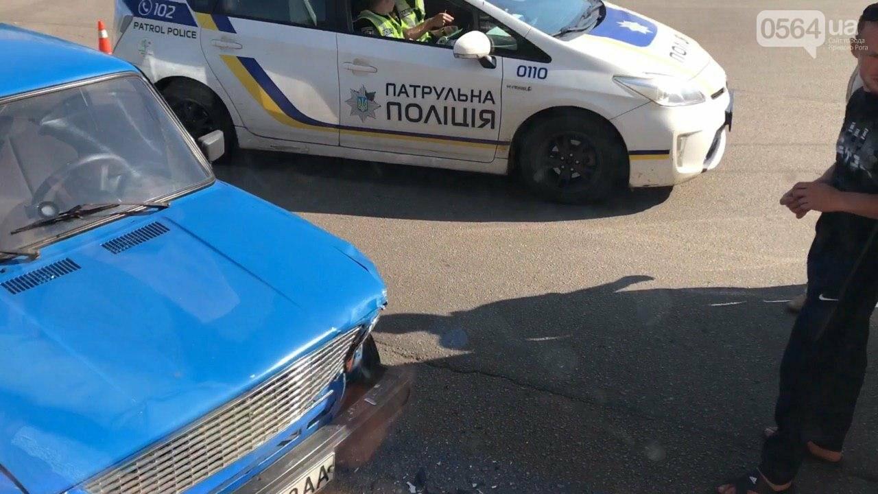 "ДТП в Кривом Роге: на кольце столкнулись маршрутка и ""Жигули"", - ФОТО, фото-1"