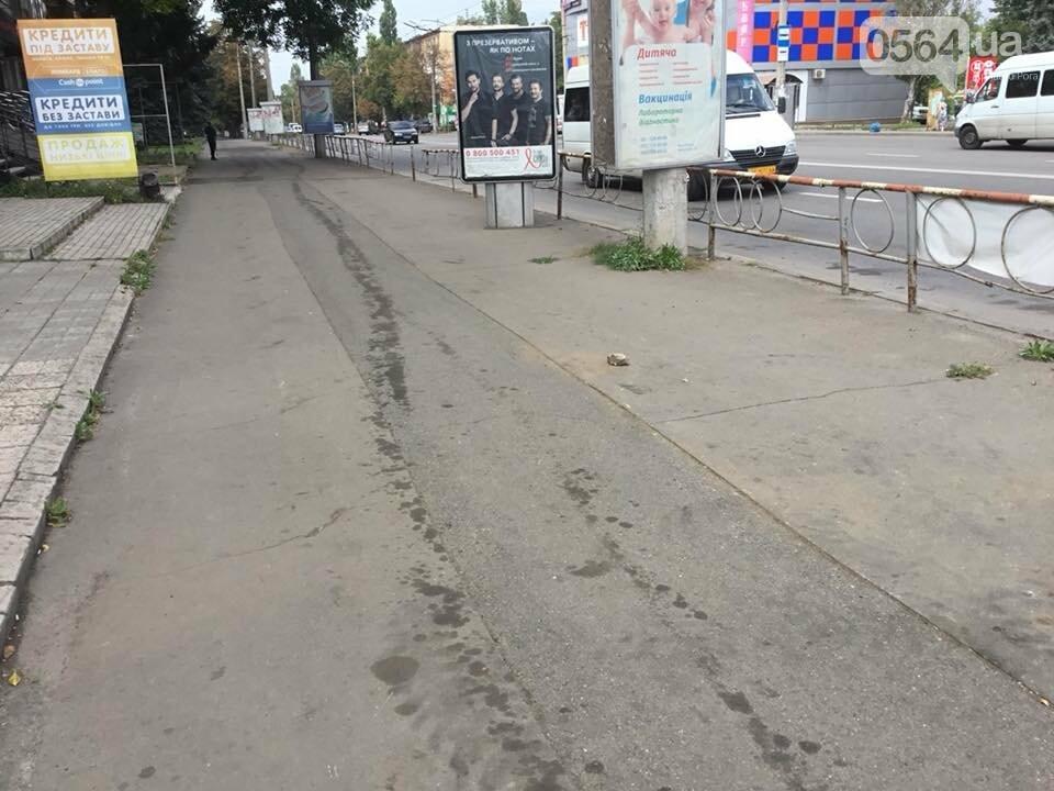 На центральном проспекте Кривого Рога ремонтируют тротуары, - ФОТО, ВИДЕО, фото-21