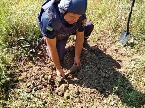 Пиротехники ГСЧС уничтожили мину, найденную на поле под Кривым Рогом, - ФОТО, фото-3