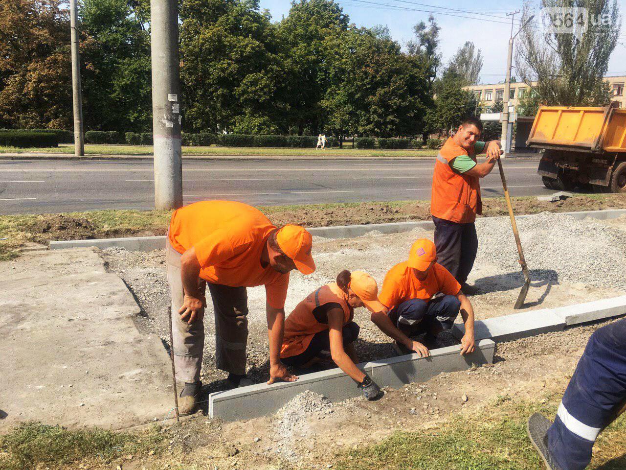 В Кривом Роге ремонтируют пешеходную дорожку к горисполкому, - ФОТО , фото-6