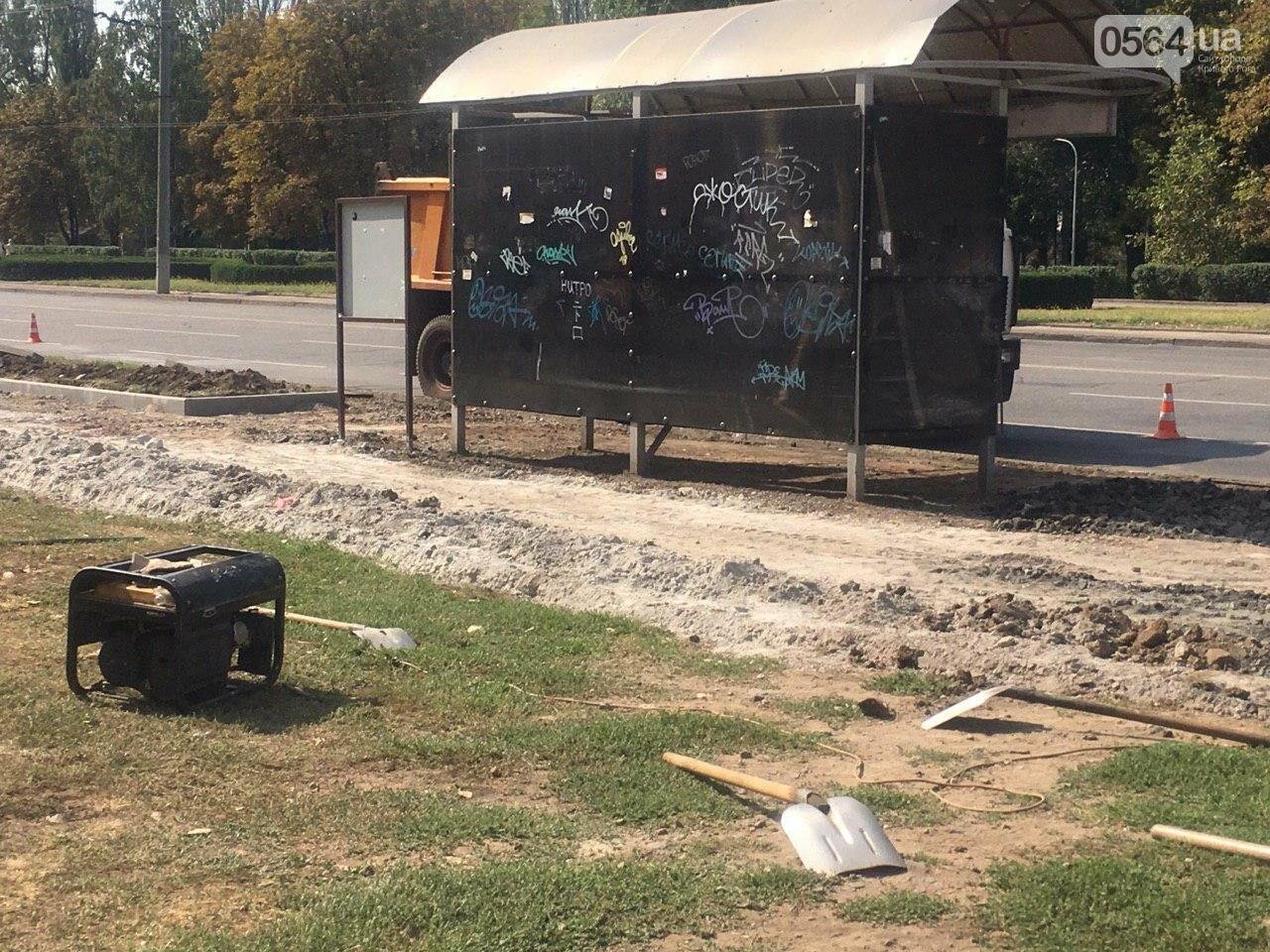 В Кривом Роге ремонтируют пешеходную дорожку к горисполкому, - ФОТО , фото-15