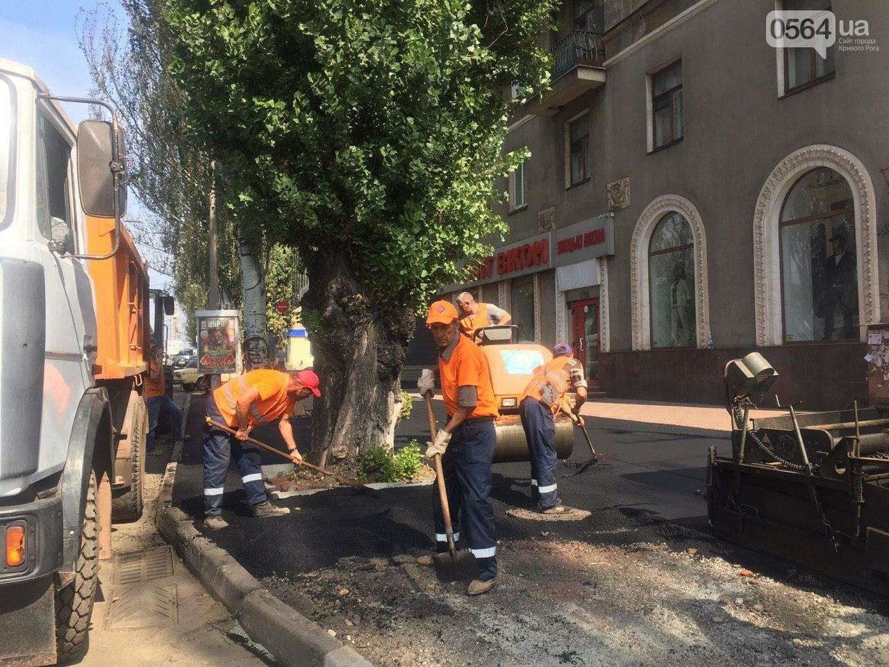 В Кривом Роге ремонтируют пешеходную дорожку к горисполкому, - ФОТО , фото-29