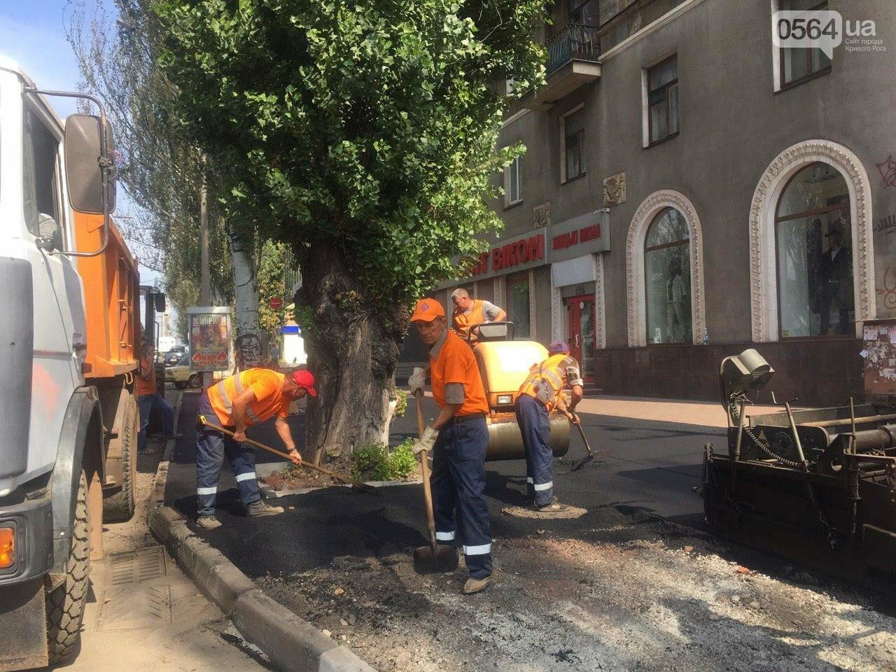 В Кривом Роге ремонтируют пешеходную дорожку к горисполкому, - ФОТО , фото-33