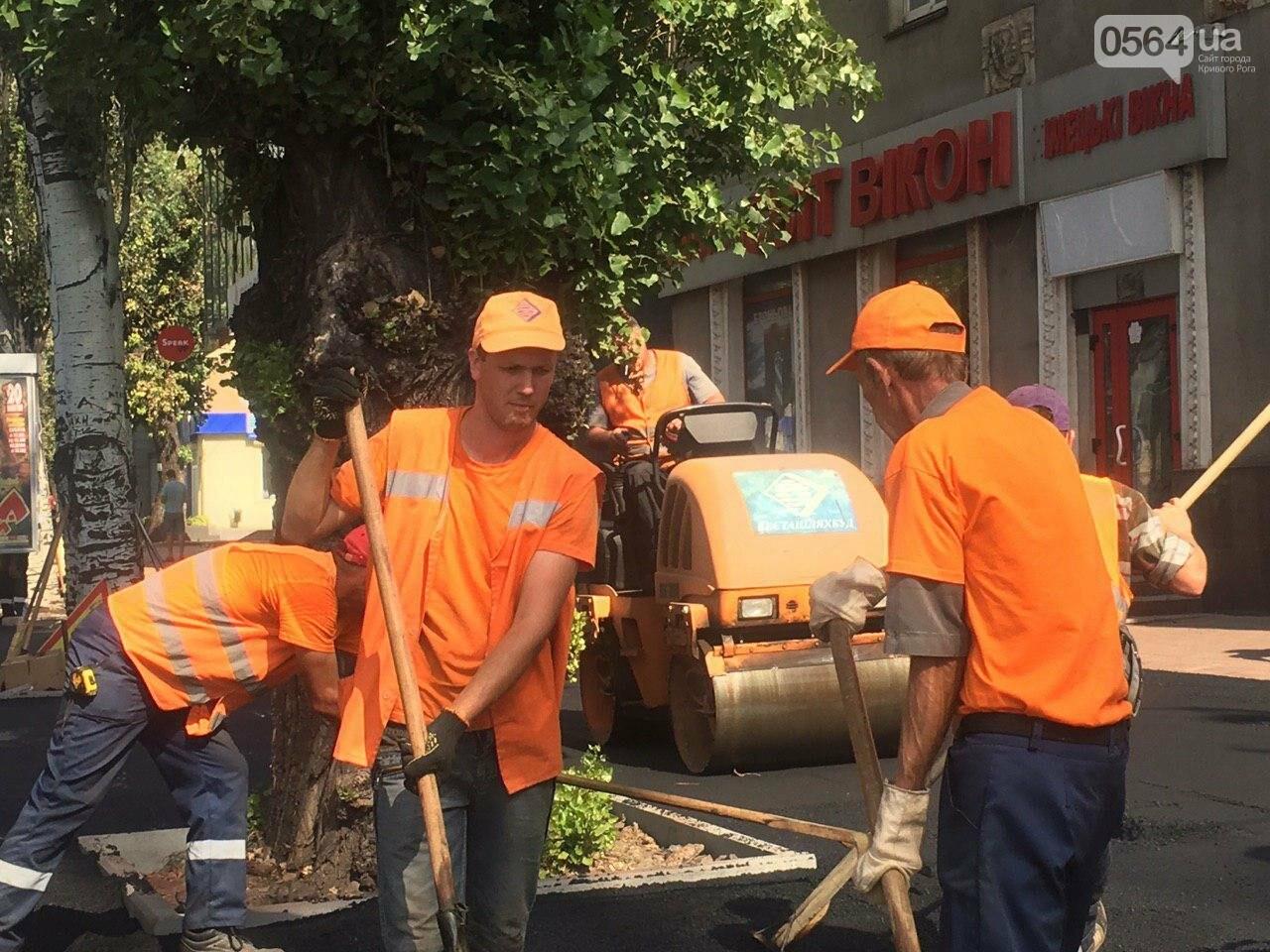 В Кривом Роге ремонтируют пешеходную дорожку к горисполкому, - ФОТО , фото-35