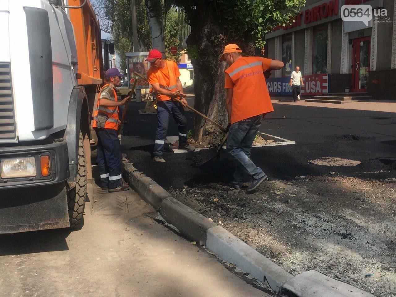 В Кривом Роге ремонтируют пешеходную дорожку к горисполкому, - ФОТО , фото-36