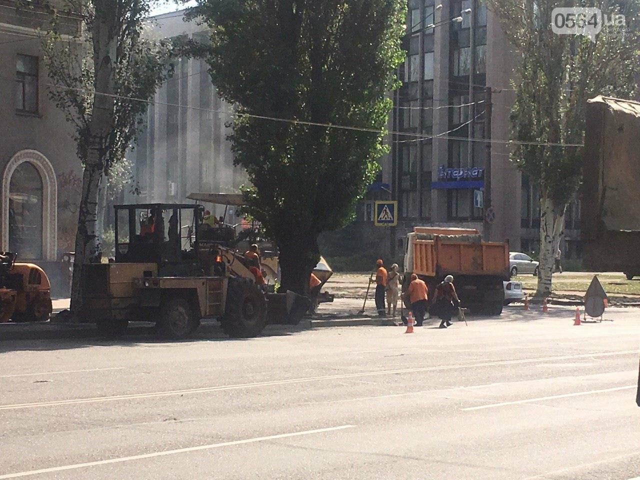В Кривом Роге ремонтируют пешеходную дорожку к горисполкому, - ФОТО , фото-51