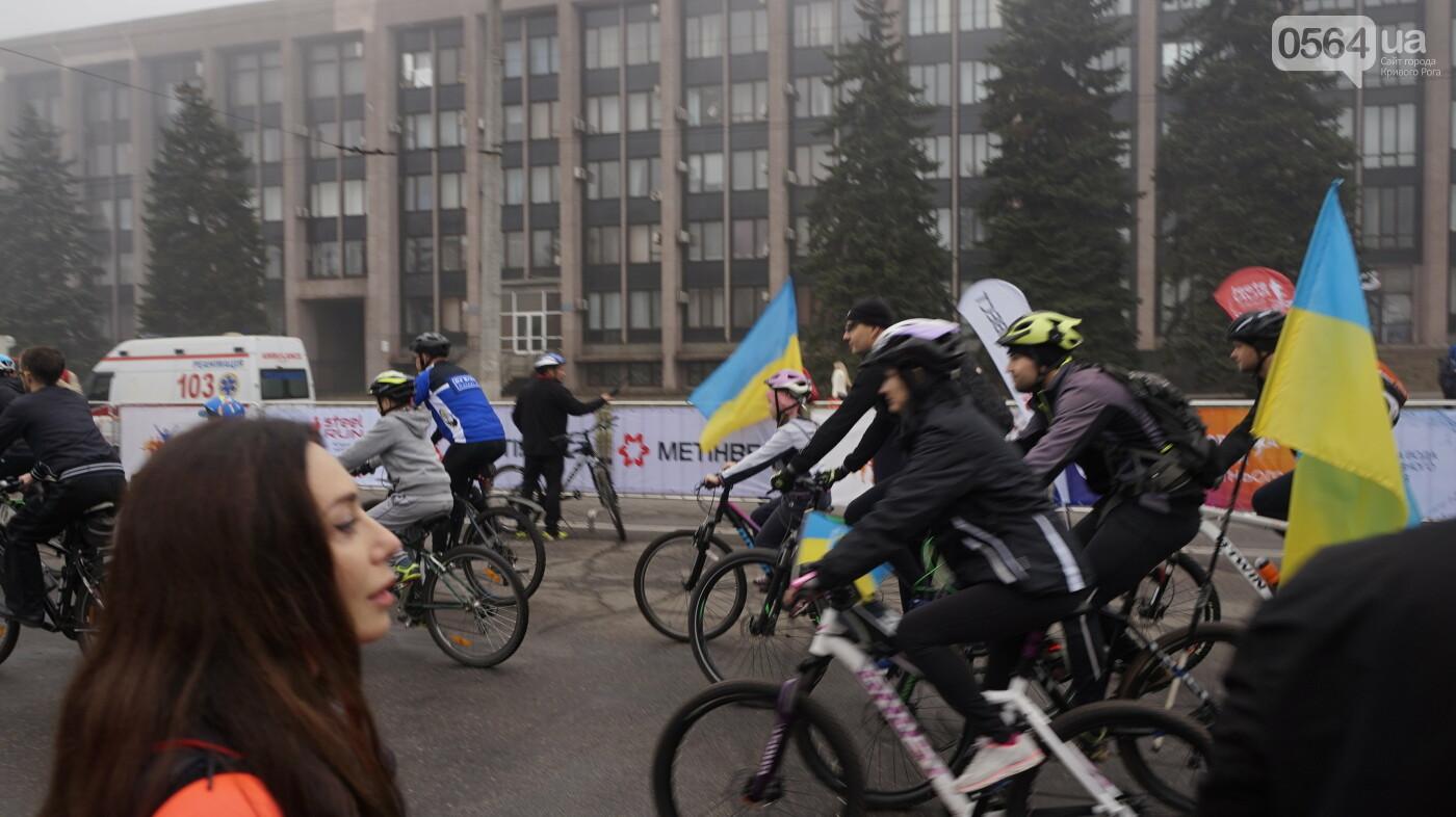 В Кривом Роге День защитника Украины и День украинского козачества начали отмечать с велопробега, - ФОТО, ВИДЕО  , фото-31