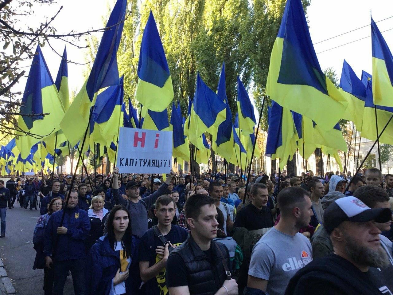 Криворожане поддержали Марш сопротивления капитуляции в Киеве, - ФОТО, ВИДЕО, ОБНОВЛЕНО, фото-11