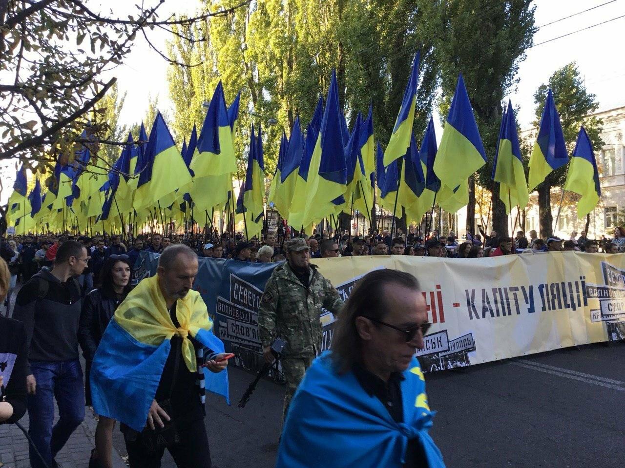 Криворожане поддержали Марш сопротивления капитуляции в Киеве, - ФОТО, ВИДЕО, ОБНОВЛЕНО, фото-9