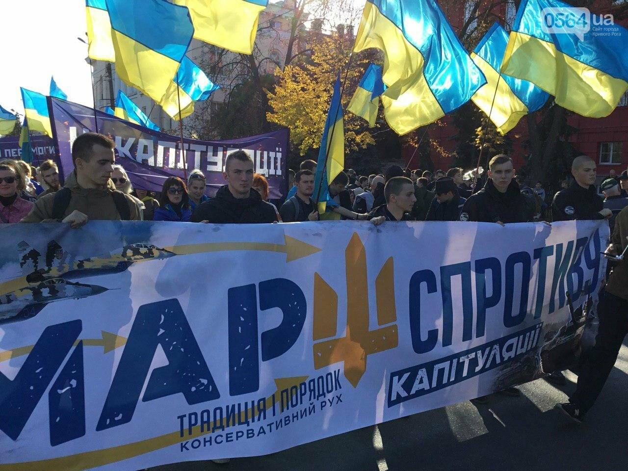 Криворожане поддержали Марш сопротивления капитуляции в Киеве, - ФОТО, ВИДЕО, ОБНОВЛЕНО, фото-2