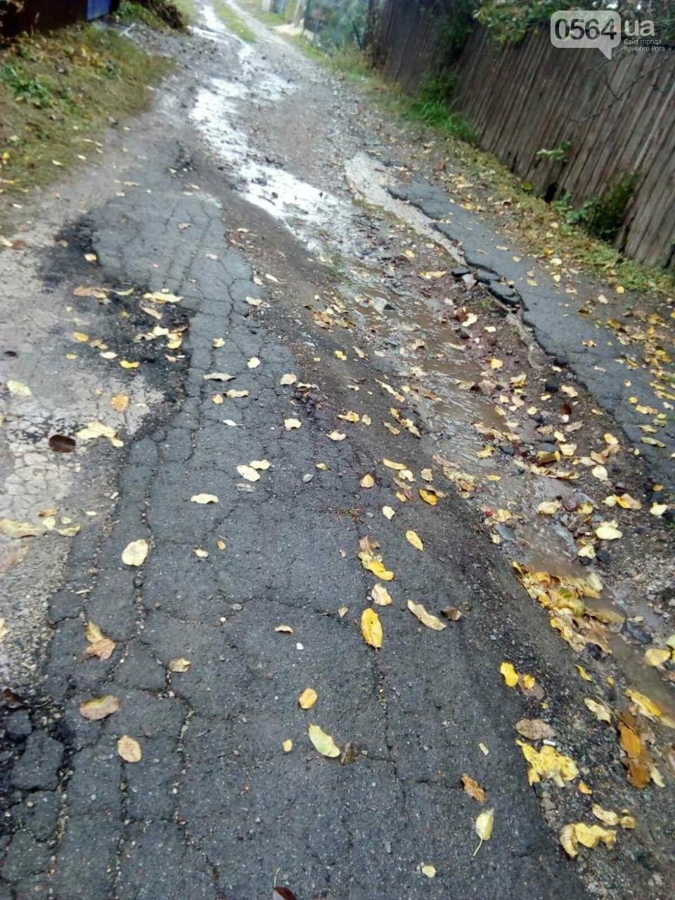 Более 15 лет криворожане с улицы Блока просят отремонтировать дорогу, - ФОТО, ВИДЕО, фото-6