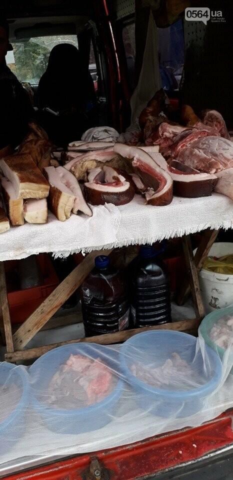 Торгующим кровянкой и салом на улице, рассказали об опасности, которой они подвергают криворожан, - ФОТО , фото-1